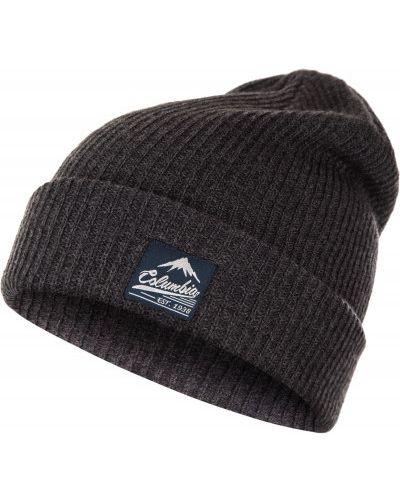 Акриловая спортивная черная шапка бини Columbia