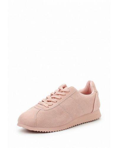 Розовые кроссовки из нубука Chicmuse