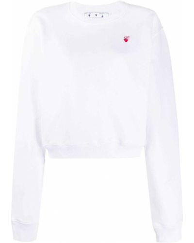 Bawełna biały zworki z haftem z mankietami Off-white