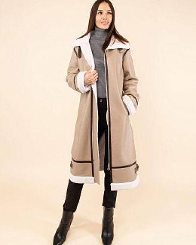 Шерстяное пальто - белое каляев