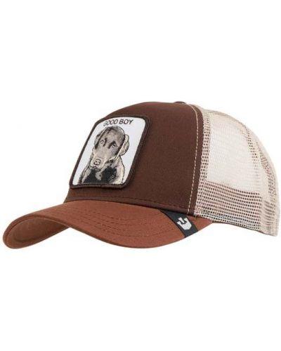 Bawełna bawełna brązowy czapka z daszkiem z aplikacjami Goorin Bros