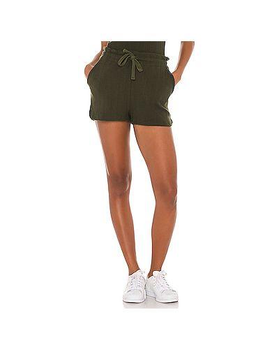 Хлопковые шорты с карманами с разрезом на шнурках Vitamin A
