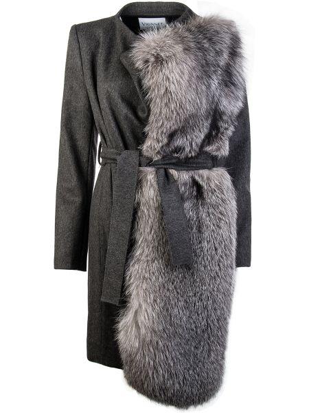Шерстяное пальто - серое Vionnet