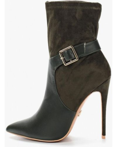 Ботинки на каблуке с острым носком замшевые Lost Ink.