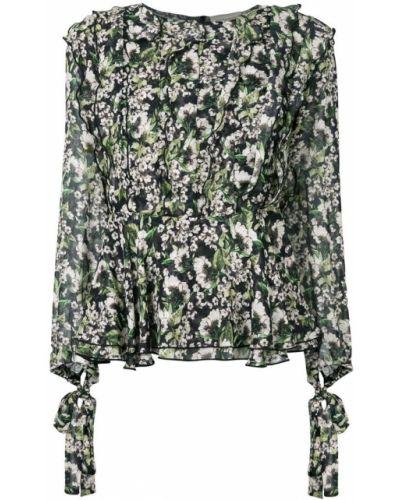 Блузка с вышивкой шелковая Giuseppe Di Morabito