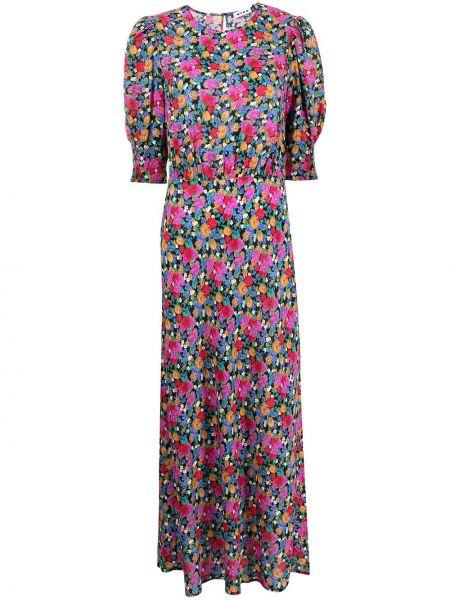 Fioletowa sukienka midi z wiskozy Rixo