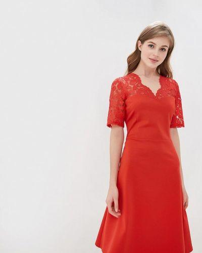 Вечернее платье весеннее красный Петербургский Швейный Дом