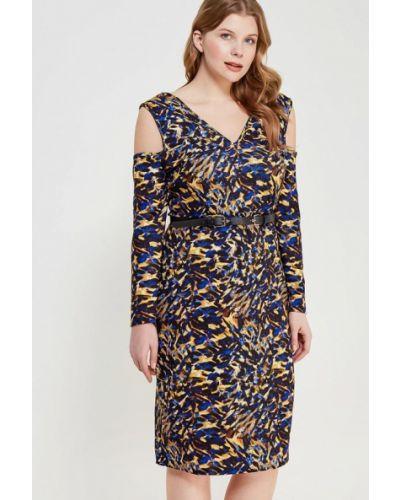 Облегающее платье с поясом осеннее Lost Ink Plus