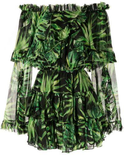 Платье с поясом с прозрачными рукавами с открытыми плечами Caroline Constas