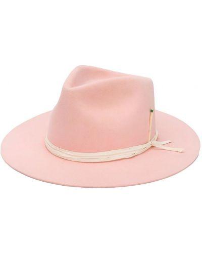Фетровая розовая шляпа-федора свободного кроя Nick Fouquet