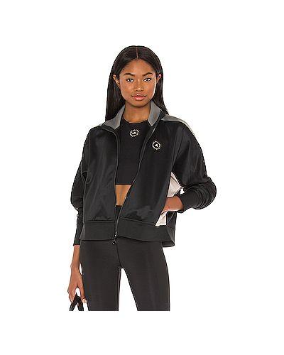 С рукавами черная спортивная куртка двусторонняя Adidas By Stella Mccartney