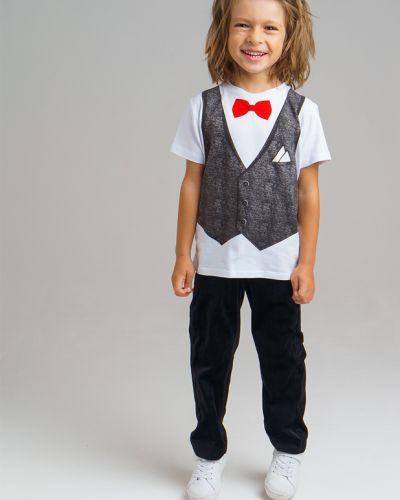 Хлопковая футболка с бабочками Playtoday Kids