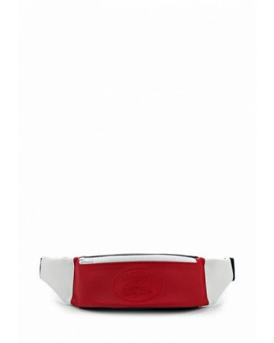 Поясная сумка кожаная Lacoste