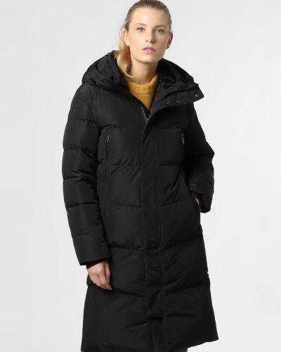 Czarny płaszcz ocieplany Rino & Pelle