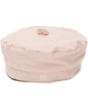 Różowy beret bawełniany Douuod Kids
