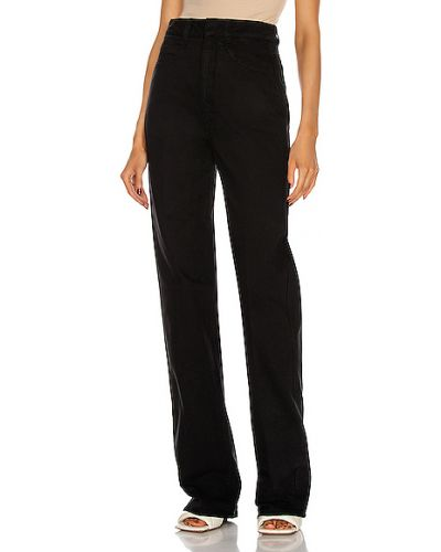Czarne jeansy z wysokim stanem bawełniane Lemaire