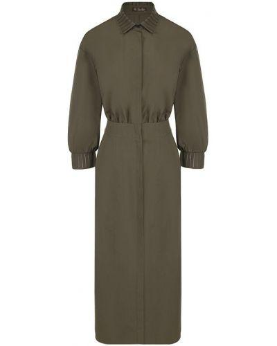 Платье платье-рубашка с отложным воротником Loro Piana