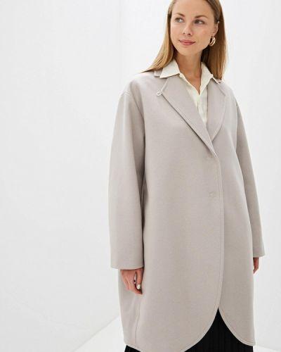 Пальто демисезонное серое Mm6 Maison Margiela
