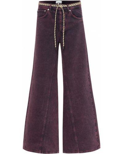 Широкие джинсы фиолетовый mom Ganni