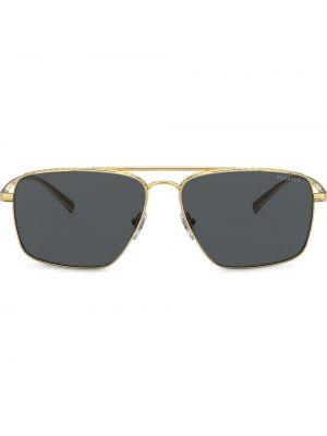 Желтые солнцезащитные очки квадратные металлические с завязками Versace Eyewear