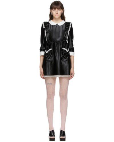 Шелковое с рукавами белое платье Gucci
