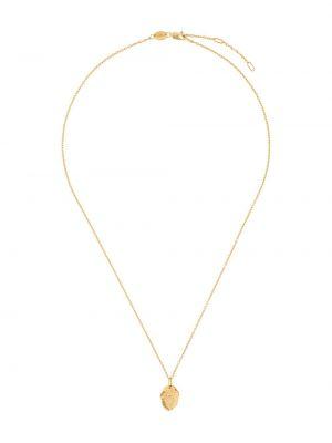 Złoty naszyjnik pozłacany Northskull