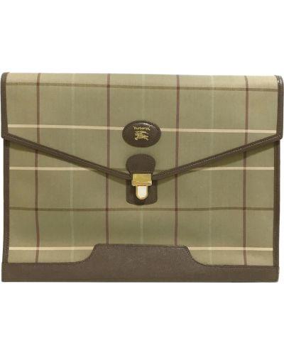 Brązowa torebka w kratę Burberry Vintage