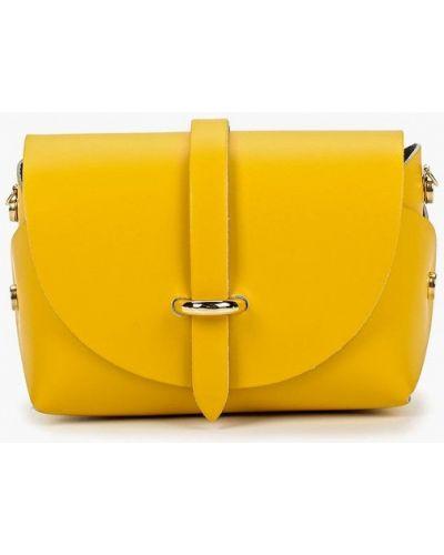 Кожаная сумка через плечо желтый Roberta Rossi