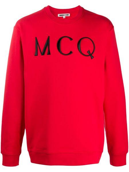 Prosto z rękawami czarny bluza z haftem Mcq Alexander Mcqueen