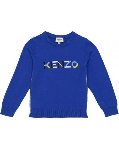 Кашемировый свитер - синий Kenzo Kids