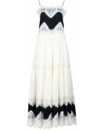 Платье макси со вставками с поясом Twin-set