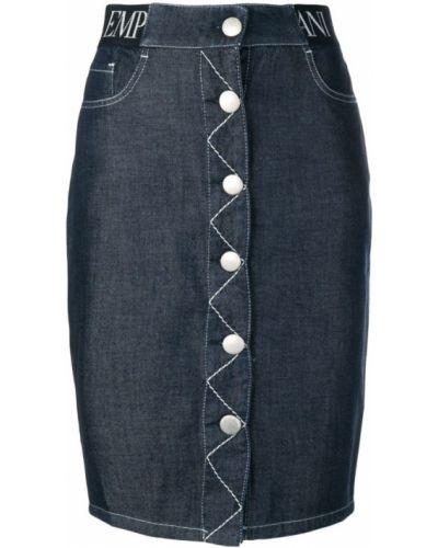 Юбка мини джинсовая с завышенной талией Emporio Armani