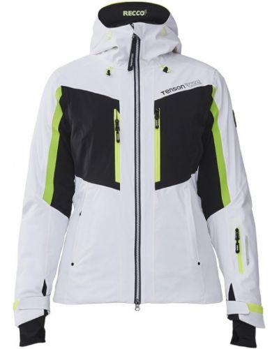 Белая куртка горнолыжная с капюшоном на молнии Tenson