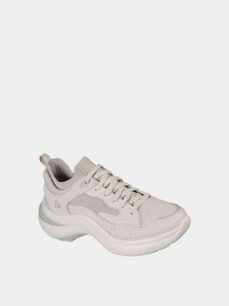 Кожаные кроссовки - серые Skechers