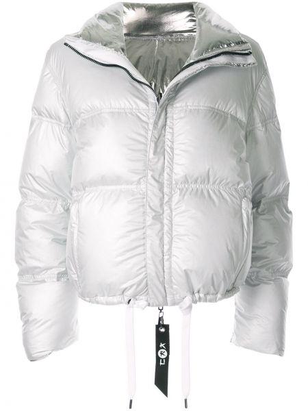 С рукавами белая куртка двусторонняя на молнии Kru
