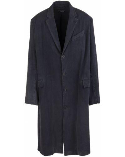 Czarny płaszcz Balenciaga