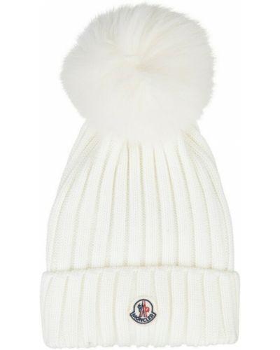 Biała czapka Moncler
