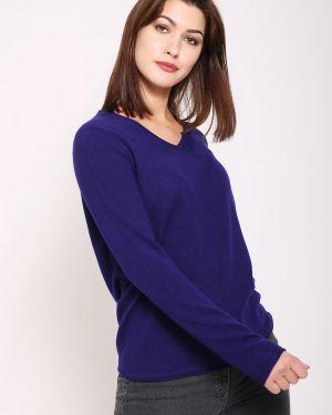 Пуловер кашемировый синий Gerry Weber