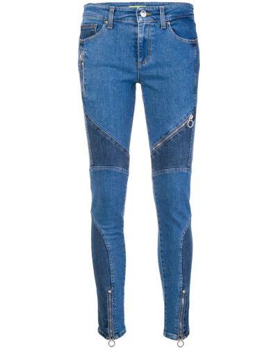 Зауженные джинсы-скинни с пайетками Versace Jeans