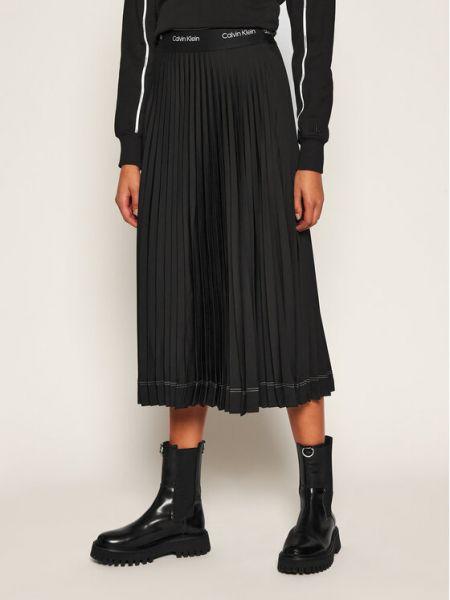 Czarna spódnica plisowana Calvin Klein