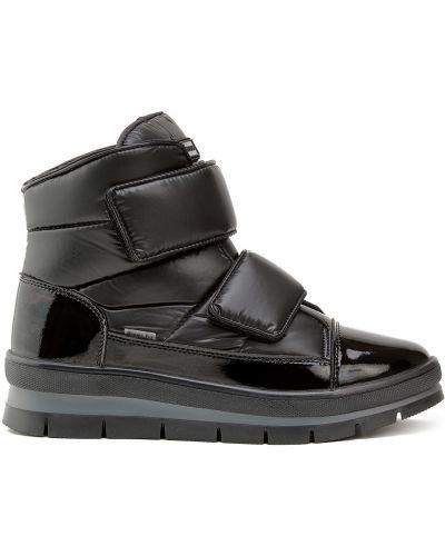 Черные кожаные ботинки на липучках Jog Dog