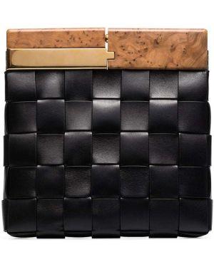 Czarna kopertówka skórzana Bottega Veneta