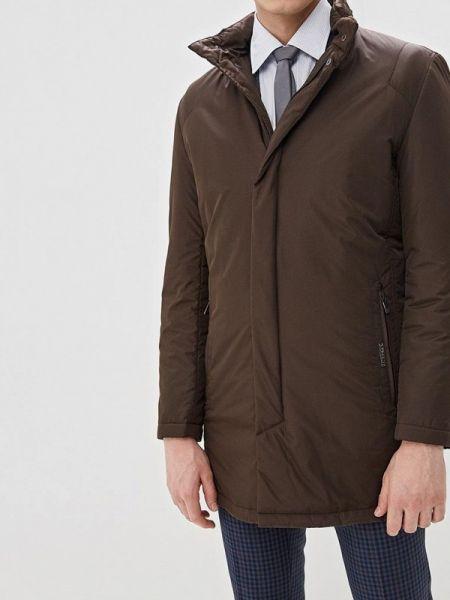 Коричневая теплая утепленная куртка Bazioni