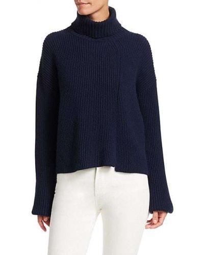 Кашемировый длинный свитер с длинными рукавами c сапфиром Loro Piana