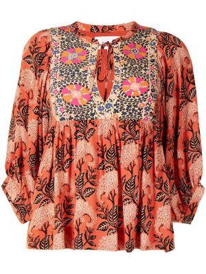 Оранжевая блузка с принтом Ba&sh