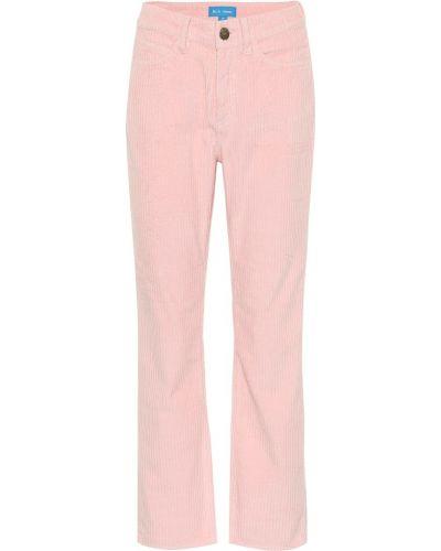 Укороченные брюки вельветовые розовый Mih-jeans