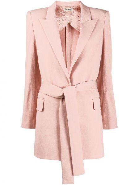 Прямой розовый пиджак с карманами Zadig&voltaire