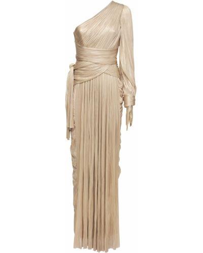 Шелковое платье макси - бежевое Maria Lucia Hohan