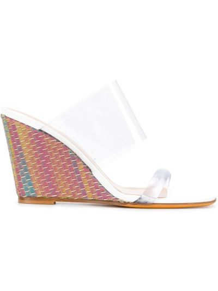 Sandały na koturnie przezroczysty skórzany Maryam Nassir Zadeh