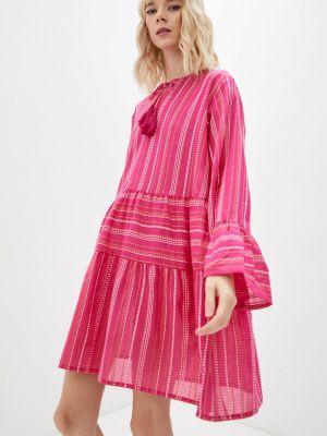 Розовое весеннее платье Pilyq
